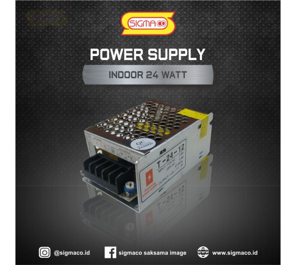 Power Supply Indoor 12V 24W 2A