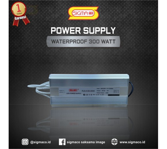 Power Supply Waterproof 12V 300W 25A