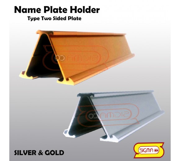 Name Plate Holder Tipe Two sided plate
