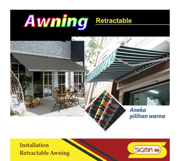 Installation retractable awning